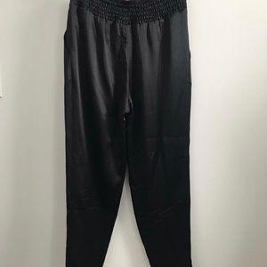Club Monaco High Waisted Silk Trouser